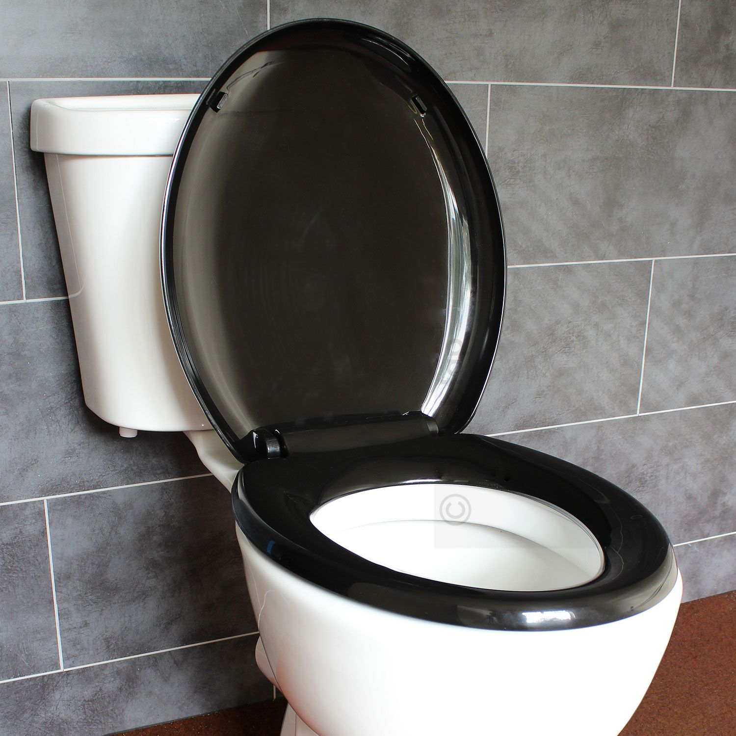 White Toilet With Black Seat. Bathroom Soft Close Black Oval Toilet Seat  Adjustable Top Bottom Fixing Hinges EcoSpa